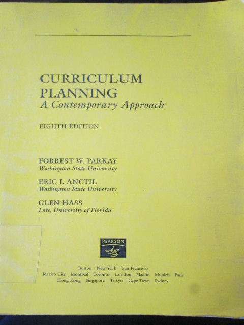 Curriculum Planing A Contemporary Approach : Eighth Edition