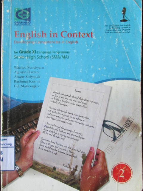 English in Context Developing Competencies in English